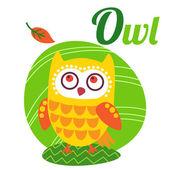 OwlLetter — Stock Vector