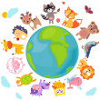 AnimalsWorld — Stock Vector #37741811
