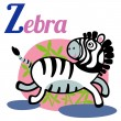 Zebra — Stock Vector
