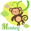 Monkey — Stock Vector #38947885