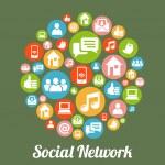 SocialM — Stock Vector
