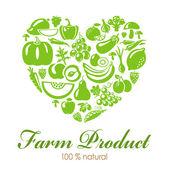 Farmproduct — Vector de stock