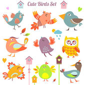 BirdsSet — Stock Vector