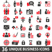 BusinessIconsRed — Stock Vector