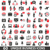 IconsBusinessRed — Stock Vector