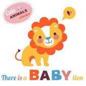Lion Baby — Stock Vector