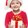 Girl smiling with gift box. — Stock Photo #34549677