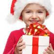 Girl smiling with gift box . — Stock Photo #34549729