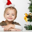 Stock Photo: Girl smiling with gift box