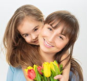 Mom with daughter — Stock Photo