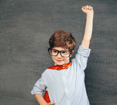 Superhjälte pojke — Stockfoto