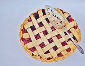 A freshly baked berry pie. — Stock Photo