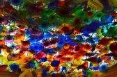 Colorful glass leaves sculpture. — Foto de Stock