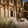 Facade of Monastery at Petra, Jordan — Stock Photo