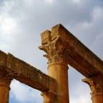 Columns from Roman Temple of Artemis at Jerash, Jordan — Stock Photo