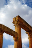 Columns from Roman Temple of Artemis at Jerash, Jordan — Stock Photo