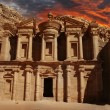 Facade of Monastery at Petra, Jordan — Stock Photo #21262721