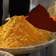 Stock Photo: Heaps of various ground spices
