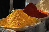 Heaps of various ground spices — Stock Photo