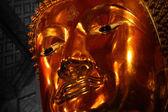 Golden buddha image in temple, Bangkok, Thailand — Stock Photo
