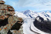 Glacier. Mountain Landscape Panorama. Switzerland — Zdjęcie stockowe