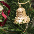 Christmas decoration with one bells — Stock Photo #39497295