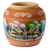 Small painted clay pottery — Stock Photo