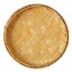 Bamboo mini basket — Stock Photo