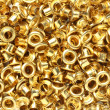 Brass eyelets — Stock Photo