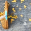 Sweeping the floor — Stock Photo