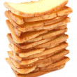 Stacks of bread — Stock Photo