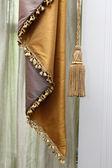 Curtain and tassel — Stock Photo