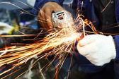 Grinding steel — Stock Photo