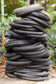 Waste tires — Stock Photo
