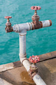 Water valves — Stockfoto