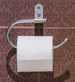 Tissue in toilet — Foto de Stock