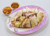 Chinese style steamed chicken — Stock Photo