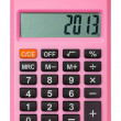 Stock Photo: Pink calculator