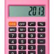 ピンクの電卓 — ストック写真