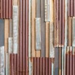 Old wood and rusty roofing sheet wall — Stock Photo