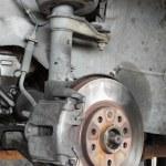 Car disc brake — Stock Photo