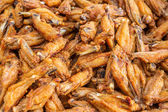 Deep fried chicken wings — Stockfoto