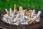 Cigarettes butt in ashtray — Stockfoto