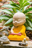 修道士の彫刻 — ストック写真