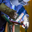 Argon welding — Stock Photo