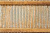 Grunge plooit zink blad muur — Stockfoto