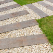 Stone path in garden — Stock Photo