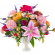 Flower bouquet in ceramic vase — Stock Photo