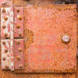 Rusted iron hinge — Stock Photo