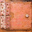 Stock Photo: Rusted iron hinge